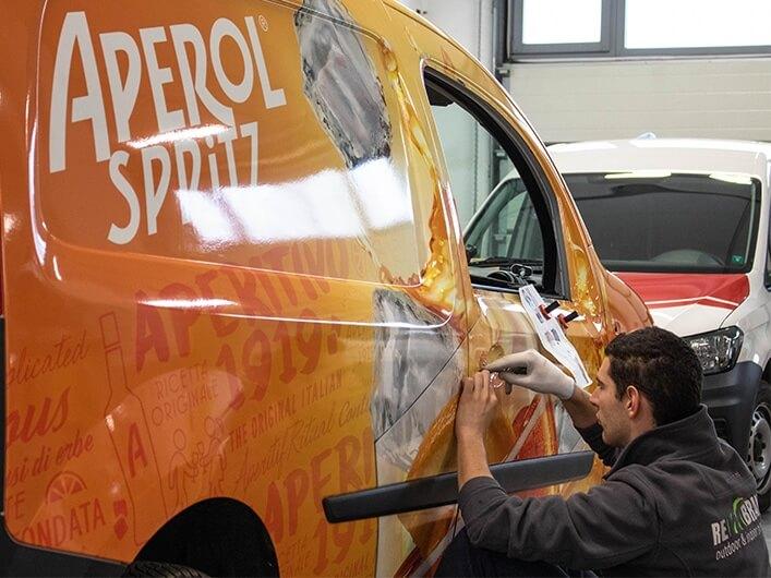 aperol car branding rebrand